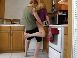 Mother Needs Some Help in The Kitchen From Her Son mature top rated old & young video
