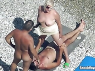 Mature Nudist Granny Milf Fucked At The Beach with voyeurs beach mature hidden camera video