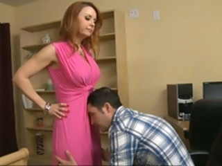 In Mrs. Mason's pants while nobody's home big tits red head hd video
