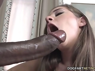 Cassidy Klein Pleases A Big Black Cock With Her Feet big cock foot fetish interracial video