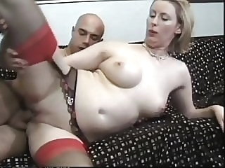 He has a thing for this British blonde MILF in stockings blonde top rated stockings video