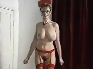 ALL YOUR LOVIN' - British big bouncy tits striptease dance blond lingerie big tits video