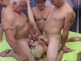 stepmom gets fisted at the gangbang orgy hardcore blowjob anal video