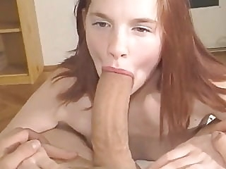 Innocent Teen Didn't Expect Her First Cock Will Be So HUGE amateur blowjob cumshot video