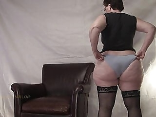 Panty Tease bbw mature stockings video