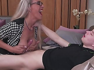 Smart mom teaching stupid son amateur blowjob mature video