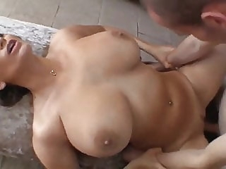 HOT MOM with HUGE TITS blowjob cumshot milf video
