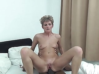Unknown short-haired skinny granny interracial anal mature interracial video