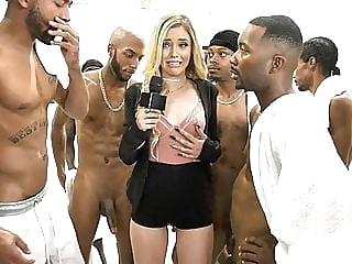 Kali Roses Sucks A Black Football Team blowjob cumshot facial video