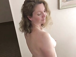 Horny Housewife at a Hotel mature milf lingerie video