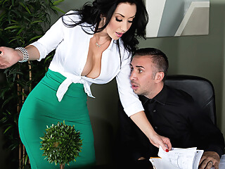 Another Hard Cock at the Office big tits british hd video
