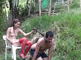 Choking slaves bdsm face sitting femdom video