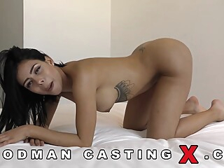 Canela Skin is a dirty minded brunette, always in the mod to suck a huge dick big tits brunette casting video