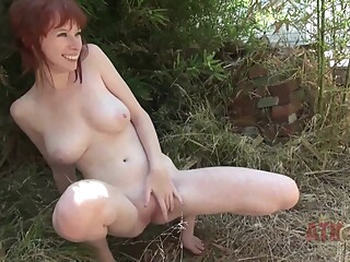 Young Redhead amateur big tits hd video