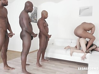 Ciara Riviera is trying an interracial DAP during a group sex session, and enjoying it a lot anal cumshot double penetration video