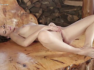Toka Sparnem is a girl who caresses gently brunette hd solo female video