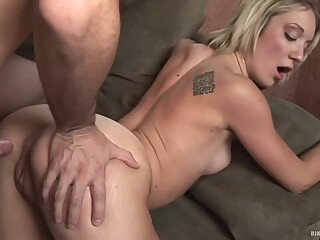 Inked blonde babe with a skinny body Amy Brooke knows how to please her lover blond hd straight video