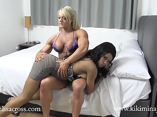 Kiki Minaj Muscle Worship big tits hd interracial video