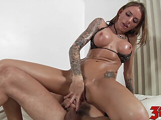 Juelz Ventura takes this cock deep in her pussy brunette hd milf video