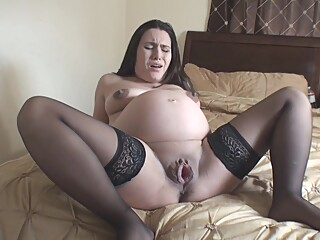 Pregnant Labour amateur brunette fetish video