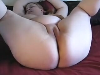Concupiscent chubby doxy plays with one as well as the other holes using new toys anal toys wife video