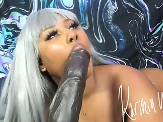 Karmin Taking 12 Inches Up Ass amateur anal bbw video