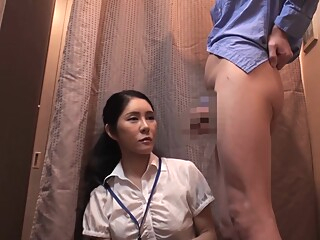 Dressing room flash amateur asian brunette video