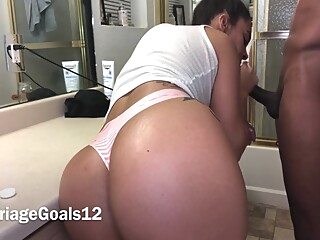 Quickie In The Bathroom amateur big ass big cock video