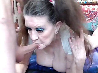 Old Granny Gets Ass Fucked With Cum amateur anal bbw video