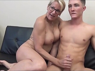 Unreal Sexy 70yo Mature Secretary Having Fun With 19yo Boss amateur big cock big tits video