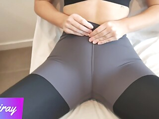 Fitness Babe Makes Me Cum In Her Panties And Pull Them In Her Yoga Leggings amateur big ass big cock video