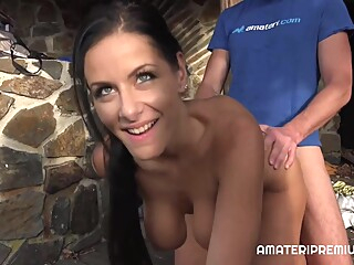 Alex Black Czech amateur big tits brunette video