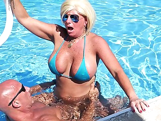 Sexiest Bikini Fuck Ever Pt 3. Hooters Stepmom Fucks Fit Stepson In Pool. Gets Huge Facial amateur big cock big tits video