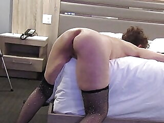 Cock Sucking Granny - fucked from behind - blurry video asian blowjob mature video