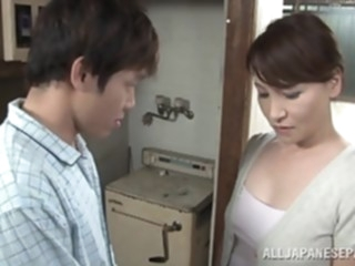 Hot Japanese milf Yuuri Saejima in a tough screwing action asian japanese mature video