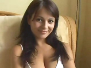 Czech, Cute, Shy, Big Naturals, Creampie! brunette european czech video