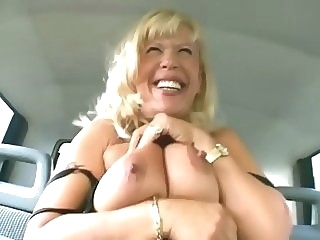 Granny goes for a ride - Sascha Production mature big tits straight video