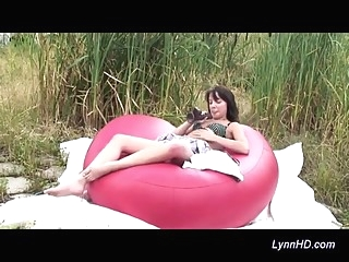 young girl loves outdoor masturbation masturbation young (18-25) teens video
