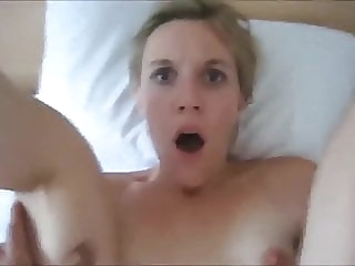 A CUTE BLONDE SURPRISED BY A PAINFUL ANAL amateur anal blonde video