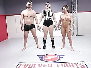 Brandi Mae rough wrestling sex fight vs Jack Friday blowjob fingering pornstar video