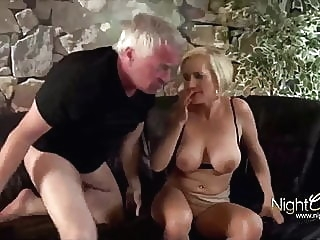Horny wife used hard by old men anal blowjob handjob video