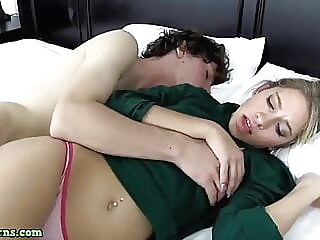 Mom Shares bed blowjob pornstar handjob video