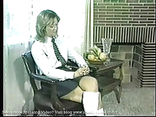 Retro Spanking blonde spanking 18 year old video