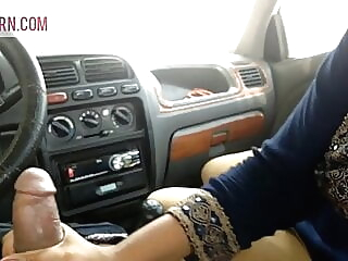 Indian Desi Girl Surbhi fucked in boyfriend's car anal asian cumshot video