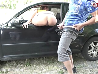 MyDirtyHobby - Tight MILF babe caught masturbating outdoors by hiker amateur babe big tits video