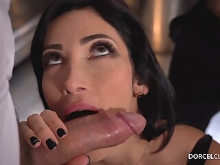 Clea Gaultier gets a DP in the restaurant kitchen anal brunette french video