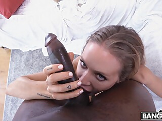 Enjoying A BBC big cock big tits blond video