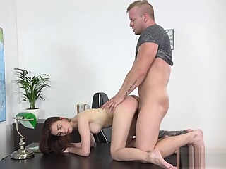 Teacher Fucks a Hot Teen and She Gives Creampie brunette hd point of view video