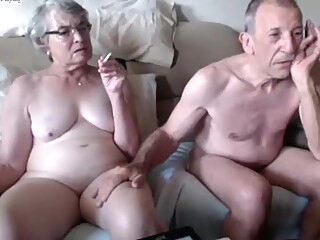 Crazy Homemade record with Webcam, Grannies scenes amateur granny smoking video