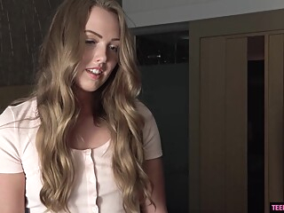 Fresh, blonde teen, Ashley Red is so good at sucking and fucking, although just an amateur amateur blonde hd video